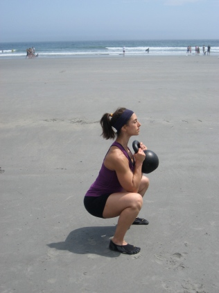 Kettlebells at the Beach