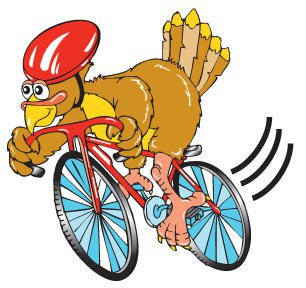 Turkey-on-a-bike