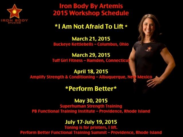 2015 Workshop Schedule