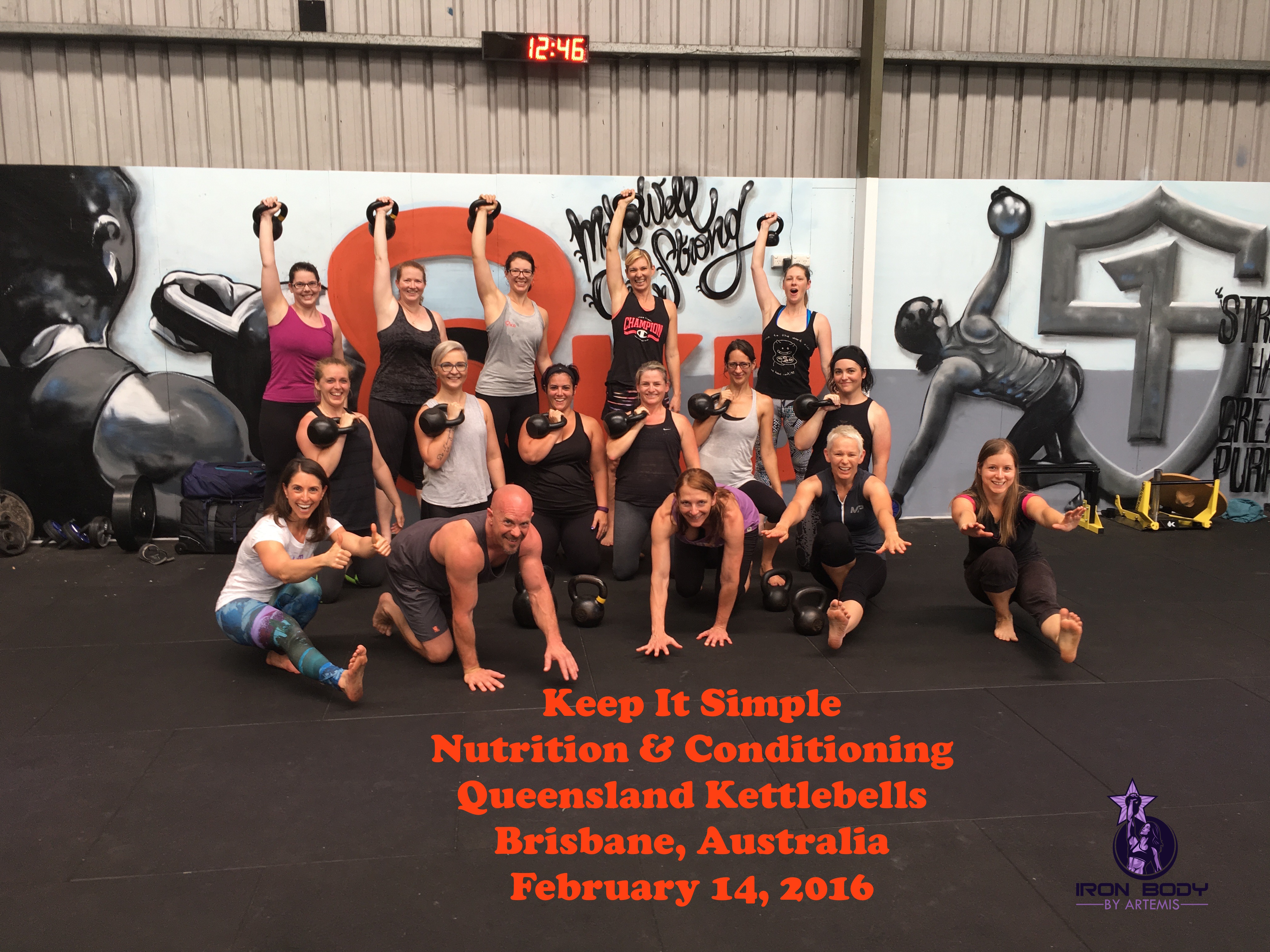 Ironbodybyartemis I Am Not Afraid To Lift Simple Circuit Training The Group From Keep It Nutrition Conditioning Australia 2016